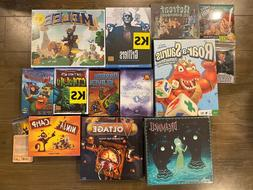 12 Board Game Lot - Retreat to Darkmoor, Grifters, Dreamwell