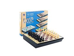 12'' Travel Magnetic Plastic Chess Multifunction 5 in 1 Ches
