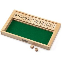 12 numbers shut the box board game
