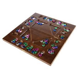 16 In. Folding Wooden Mancala Game 2-4 Player Folding Board