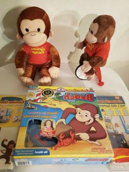 """16"""" Curious George MONKEY stuffed ANIMAL PLUSH TOY With boar"""