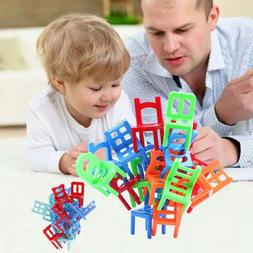 18Pcs balance chairs board game funny colorful toys kids edu