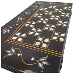 The 19'' White Tulip Turkish Backgammon Board Game Set