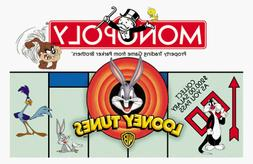 1999 Looney Tunes Monopoly Game with 8 Pewter Character Toke