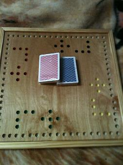 2 - 4 Player MARBLES AND JOKERS GAME BOARD  HAND CRAFTED in
