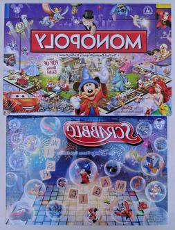 2 Disney Theme Park Board Game Lot, Monopoly and Scrabble SE