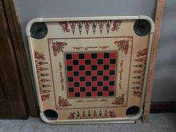 """27.5"""" Large Carrom Wooden Board Game With Coins And Striker"""