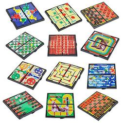 4E's Novelty 12 Bast travel sized board games. These Magneti