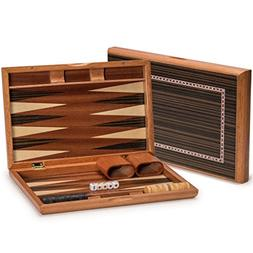 Backgammon Board Game Set - Wooden Piano Lacquer Case 13 inc