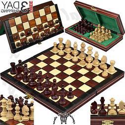 "Best Travel Chess Set - SouvNear 12.5"" Magnetic Wooden Fol"