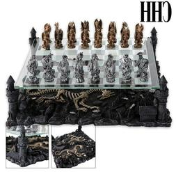 CHH Dragon Theme Chess Board Classic Strategy Game Set King
