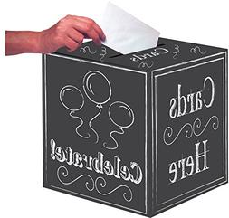 "Creative Converting Chalkboard Card Box, 12"""