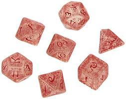 Elvish Dice Transparent/Red  Board Game