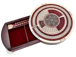 "House of Cribbage - 10"" Round Shape 4 Tracks Continuous Crib"