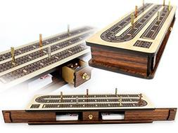 House of Cribbage - Continuous Cribbage Board / Box inlaid R