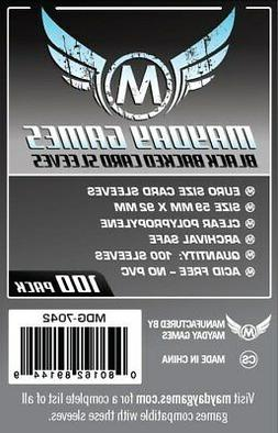 Mayday Games 7042 Black Backed Euro Card Sleeve 100 Count