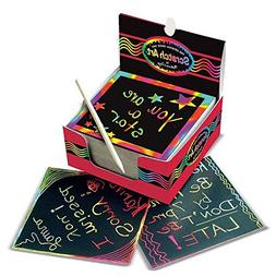 Melissa & Doug Scratch Art Box of Rainbow Mini Notes, Arts &