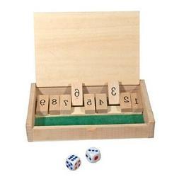 """New Mini Wooden Shut the Box Game - 5-1/2"""" x 3-1/2""""  Game Bo"""