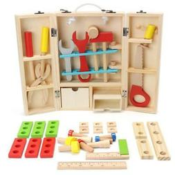 Newest Kids Baby Educational Toys Wooden Building Block Boar
