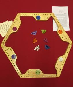 PEGS and JOKERS Board Game 6 Player- 100% made in USA!!!