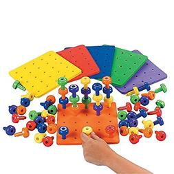 Stack it Peg Game With Board Occupational Therapy Autism Fin