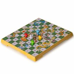 Yellow Mountain Imports Magnetic Snakes and Ladders Game Set