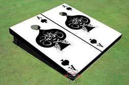 Ace of Spades Black and White Theme Corn Hole Boards Cornhol