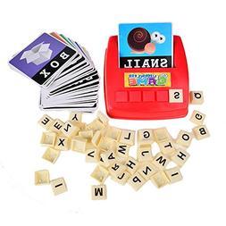 BOHS Alphabet Letters Word Cards English ABC Builder- Litera