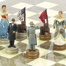 American Civil War Chessmen Extra Large Chessmen. King: 4 5/