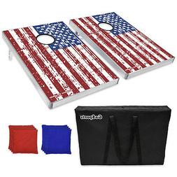 Gosports American Flag Cornhole Bean Bag Toss Game Set 8 Bag