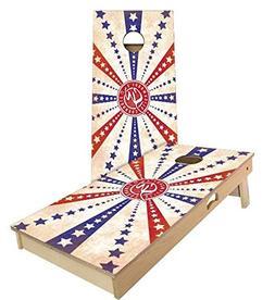American Flag Stars and Stripes Cornhole Boards, 2x3 , Tailg