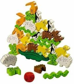 HABA Animal Upon Animal - Classic Wooden Stacking Game Fun f