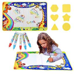 Aqua Doodle Pad, Holody Travel Large Water Drawing Mat Toy P