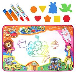 Homtable Large Aqua Magic Doodle Pad 34 x 22 inch, 6 Color W