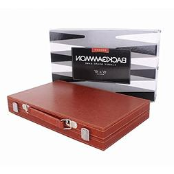 Backgammon Set,Once ZY Time Leather Backgammon Board Game wi