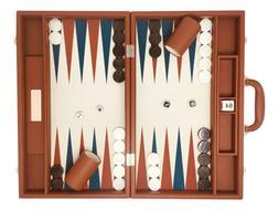 "Backgammon Set-Premium Large 18"" Classic Board Game Travel C"