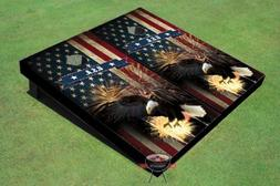 bald eagle theme corn hole