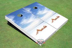 Girl on Beach Corn Hole Boards Cornhole Game Set