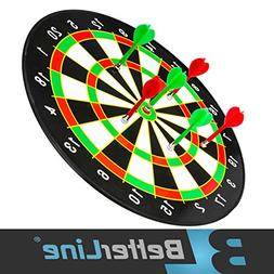 Better Line Magnetic Dart Set with 16 Inch Dartboard and 6 D