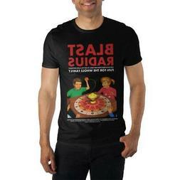 Blast Radius Board Game Men's Black T-Shirt