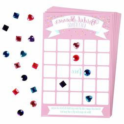 Bridal Shower Bingo Game 16 players Amscan 384 gems 380120
