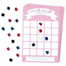 Bridal Shower Bingo Game 16 players Amscan 384 gems380120