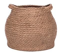 Jolly Jon Large Brown Jute Storage Basket - Natural Plant Pa