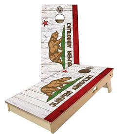 California Flag Cornhole Boards, 2x4 , Regulation Size, Wood