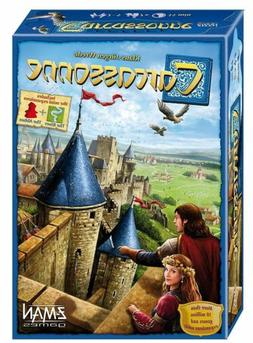 Carcassonne Board Game A card game played by friends at a pa
