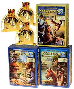 Carcassonne Expansions 1 & 2 & 3 Bundle Set _ No. 1 Inns & C