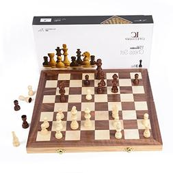 "LifeChamp Chess Sets for Adults and Kids with 15"" Inch Large"