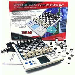 iCore Chess Set, Travel Magnetic Checkers Board, Electronic