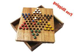 CHINESE CHECKERS, Classic Strategy Wooden Game, Board Game,