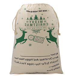Christmas Bags Santa Sacks with Drawstring for Large Gifts,